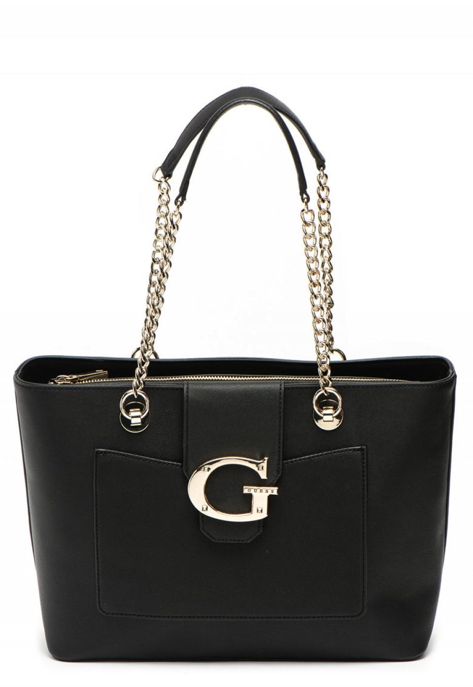 Чанта Camila от еко кожа с метално лого